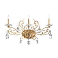 Schonbek Filigrae 3 Light Wall Sconce in French Gold and Spectra Crystal FE7003N-26A