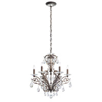 Schonbek FE7006N-76A Filigrae 6 Light 23 inch Heirloom Bronze Chandelier Ceiling Light in Clear Spectra