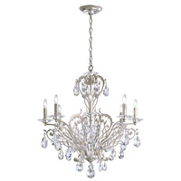 Schonbek Filigrae 8 Light Chandelier in Antique Silver and Heritage Crystal FE7008N-48H