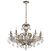 Schonbek Filigrae 10 Light Chandelier in Etruscan Gold and Spectra Crystal FE7010N-23A