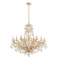 Schonbek Filigrae 18 Light Chandelier in French Gold and Heritage Crystal FE7018N-26H