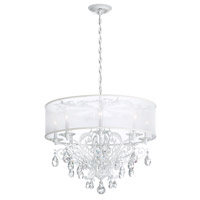 Schonbek FE7088N-23H1 Filigrae 8 Light Etruscan Gold Chandelier Ceiling Light in Filigrae White, Filigrae Heritage