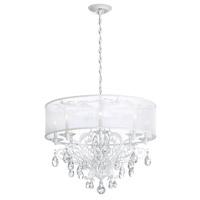 Schonbek FE7088N-48H1 Filigrae 8 Light 29 inch Antique Silver Chandelier Ceiling Light in White, Clear Heritage