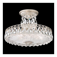 Schonbek Fontana Luce 3 Light Semi Flush Mount in Antique Silver and Heritage Crystal FL7788N-48H