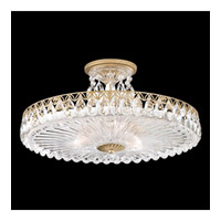Schonbek Fontana Luce 3 Light Semi Flush Mount in Heirloom Gold and Heritage Crystal FL7789N-22H