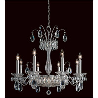 Fontana Luce 10 Light 26 inch Silver Chandelier Ceiling Light