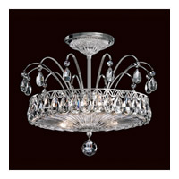 Fontana Luce 3 Light 14 inch Silver Semi Flush Mount Ceiling Light in Polished Silver