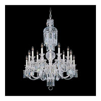 Schonbek Fairfax 14 Light Chandelier in Silver and Clear Heritage Handcut Trim 5034