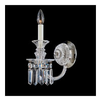 Schonbek Fairfax 1 Light Wall Sconce in Silver and Clear Heritage Handcut Trim 5035