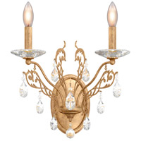 Schonbek FE7002N-26H Filigrae 2 Light 10 inch French Gold Wall Sconce Wall Light in Clear Heritage