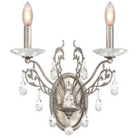 Schonbek FE7002N-48A Filigrae 2 Light 10 inch Antique Silver Wall Sconce Wall Light in Clear Spectra