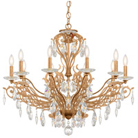 Schonbek FE7010N-26H Filigrae 10 Light 33 inch French Gold Chandelier Ceiling Light in Clear Heritage