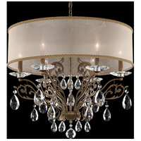 Schonbek FE7066N-48A2 Filigrae 6 Light 24 inch Antique Silver Chandelier Ceiling Light in Gold, Clear Spectra