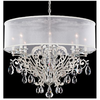 Filigrae 8 Light 29 inch Antique Silver Chandelier Ceiling Light in Clear Spectra, White