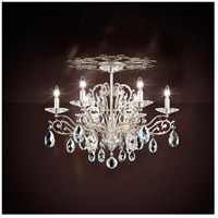 Filigrae 6 Light Antique Silver Flush Mount Ceiling Light in Clear Heritage
