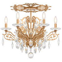 Schonbek FE7206N-26H Filigrae 6 Light French Gold Flush Mount Ceiling Light in Clear Heritage