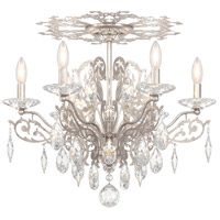 Schonbek FE7206N-48A Filigrae 6 Light Antique Silver Flush Mount Ceiling Light in Clear Spectra