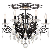 Schonbek FE7206N-76H Filigrae 6 Light Heirloom Bronze Flush Mount Ceiling Light in Clear Heritage