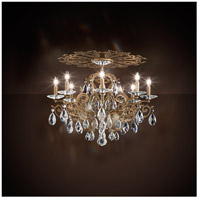 Schonbek FE7208N-23H Filigrae 8 Light Etruscan Gold Flush Mount Ceiling Light in Clear Heritage