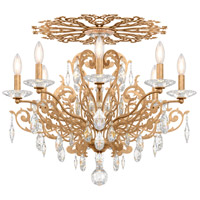 Schonbek FE7208N-26H Filigrae 8 Light French Gold Flush Mount Ceiling Light in Clear Heritage