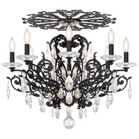 Schonbek FE7208N-76H Filigrae 8 Light Heirloom Bronze Flush Mount Ceiling Light in Clear Heritage