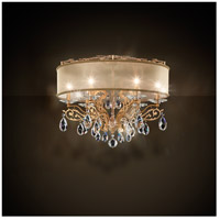 Filigrae 6 Light French Gold Flush Mount Ceiling Light in Clear Spectra