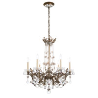 Schonbek RL1006N-26A Florabella 6 Light 26 inch French Gold Chandelier Ceiling Light in Clear Spectra