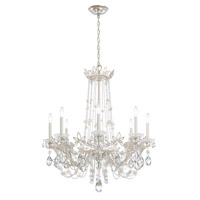 Schonbek RL1008N-22A Florabella 8 Light 33 inch Heirloom Gold Chandelier Ceiling Light in Clear Spectra