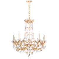 Schonbek RL1010N-26H Florabella 10 Light 39 inch French Gold Chandelier Ceiling Light in Clear Heritage