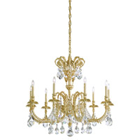 Schonbek Genzano 9 Light Chandelier in Crystal Rock GE4709N-211CR