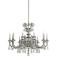 Schonbek Genzano 11 Light Chandelier in Roman Silver and Swarovski Elements Crystal GE4711N-80S