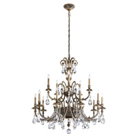 Schonbek Genzano 15 Light Chandelier in Midnight Gild and Heritage Crystal GE4715N-86H