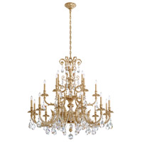 Schonbek Genzano 21 Light Chandelier in Heirloom Gold and Crystal Rock GE4721N-22CR