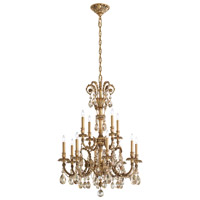 Schonbek Genzano 12 Light Chandelier in Florentine Bronze and Crystal Rock GE4722N-83CR