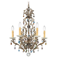 Schonbek Genesis 6 Light Chandelier in Bronze Gold and Color Mix Vintage W/Jewel Trim 9876 photo thumbnail