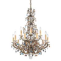 Genesis 15 Light 110V Chandelier in Bronze Gold with Clear Vintage Crystal