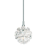 Schonbek Geode 1 Light Pendant in Stainless Steel and Crystal Swarovski Elements Trim GD0404S