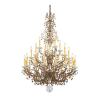 Schonbek Genesis 28 Light Chandelier in Bronze Gold and Color Mix Vintage W/Jewel Trim 9886
