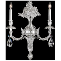Schonbek GE4702N-40H Genzano 2 Light 7 inch Silver Wall Sconce Wall Light in Cast Polished Silver Genzano Heritage
