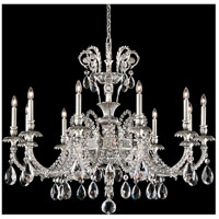 Genzano 11 Light 39 inch Roman Silver Chandelier Ceiling Light in Clear Heritage