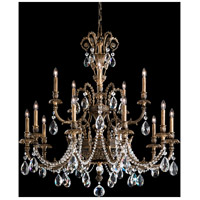 Genzano 15 Light 39 inch Midnight Gild Chandelier Ceiling Light in Clear Heritage