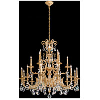 Genzano 21 Light 43 inch Heirloom Gold Chandelier Ceiling Light in Clear Spectra