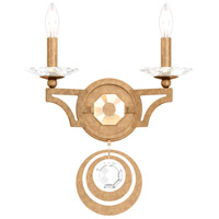 Schonbek WB1002N-26S Gwynn 2 Light 13 inch French Gold Wall Sconce Wall Light in Gwynn Swarovski