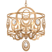 Schonbek WB1005N-26H Gwynn 5 Light 21 inch French Gold Chandelier Ceiling Light in Heritage