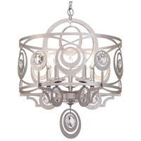Schonbek WB1005N-48H Gwynn 5 Light 21 inch Antique Silver Chandelier Ceiling Light in Heritage