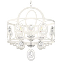 Schonbek WB1006N-06H Gwynn 6 Light 24 inch White Chandelier Ceiling Light in Heritage