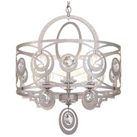 Schonbek WB1006N-48S Gwynn 6 Light 24 inch Antique Silver Chandelier Ceiling Light in Gwynn Swarovski