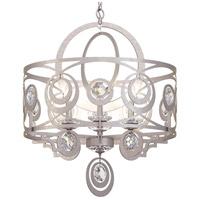 Schonbek WB1006N-48H Gwynn 6 Light 24 inch Antique Silver Chandelier Ceiling Light in Heritage