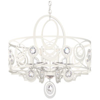 Schonbek WB1008N-06H Gwynn 8 Light 28 inch White Chandelier Ceiling Light in Heritage