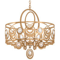 Schonbek WB1008N-26H Gwynn 8 Light 28 inch French Gold Chandelier Ceiling Light in Heritage